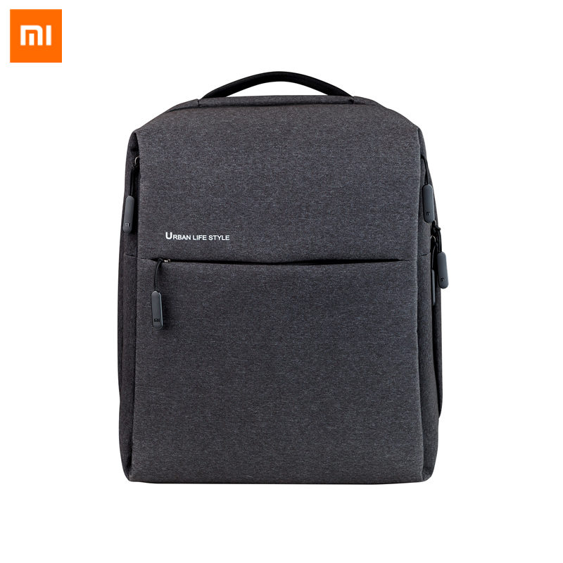 Original Xiaomi Mi Backpack Urban Life Style Shoulders OL Bag Rucksack Daypack School Student Bag Duffel Bag 14 inch Laptop Bags xiaomi 90fun urban city simple backpack 14inch laptop waterproof mi rucksack daypack school bag learning portable backpacks