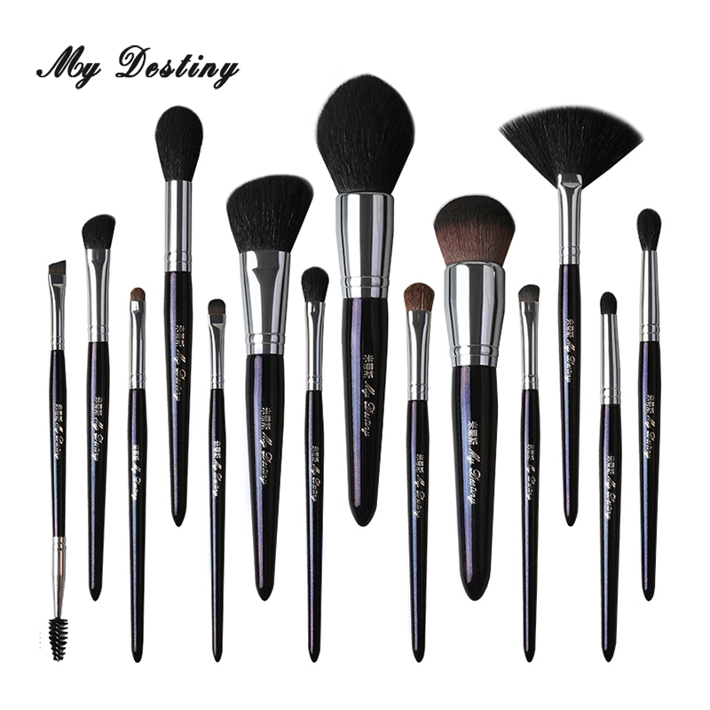 Профессиональные 14 шт голубые кисти для макияжа MY delivery, набор кистей для макияжа Pincel Maquiagem Pinceis Brochas Pinceaux Maquillage