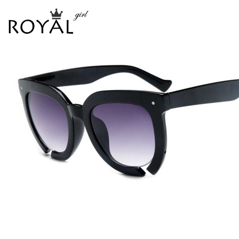 ROYAL GIRL New Fashion Women Sunglasses Acetate Thick Frame Round Sun glasses Brand Designer ss358 - Inspired store