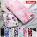 Tpu soft case para iphone 5s 5 se 6 6 s 6 más nuevo llegada matorrales de granito mármol piedra imagen pintada teléfono case para iphone 7 7 plus