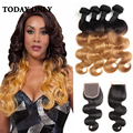 10A Mink Malaysian Body Wave 1b 27 Ombre Hair With Closure 4 Bundles With Closure 10A Malaysian Ombre Bundles With Closure Soft