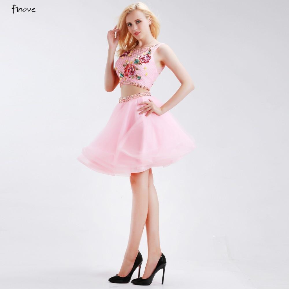 Comprar ahora Finove Pink dos piezas Vestidos de fiesta 2018 nuevo ...