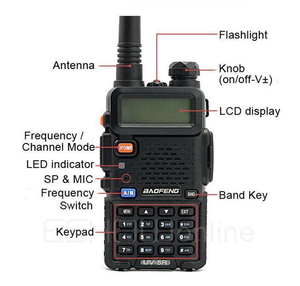 Image 3 - アップグレード Baofeng Uv 5R バッテリー 2800mah HT Woki 土岐ラジオ 10 キロ長距離 Communicator 無線警察スキャナ SB トランシーバ