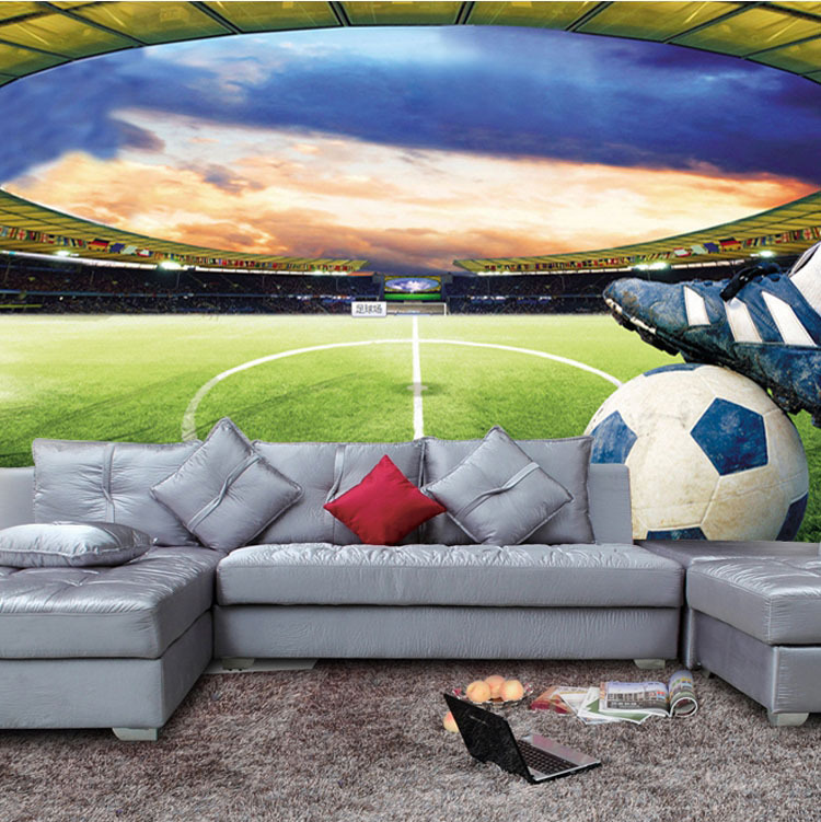 Football stadium Wall Mural Customize Photo Wallpaper Soccer game ROOM  DECOR Collection Living Room Bedroom Hallway. Football Stadium Wallpaper For Bedrooms