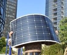100 Вт полугибкий Панели солнечные монокристаллического кремния ячейки фотоэлектрических модуль для 12 В батареи RV яхт автомобиль дома зарядки