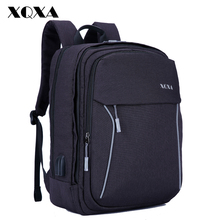 XQXA Men Backpack with USB Charging Anti Theft Travel Back Pack 15.6-17.3 Inch Laptop Backpack for Men and Women School Bags