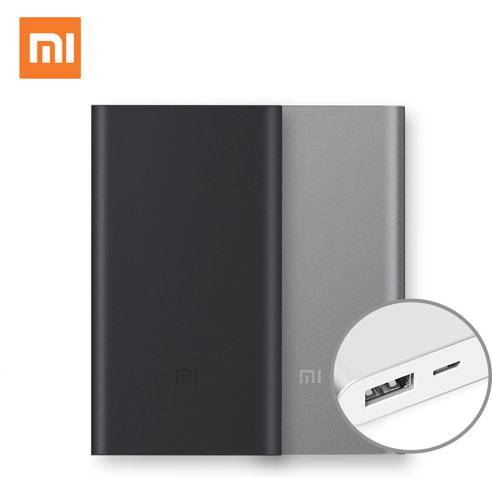 Buy Xiaomi Power Bank 2 10000mah Mi Powerbank Quick Black Charge External Battery Micro Usb Portable Bateria Charger From