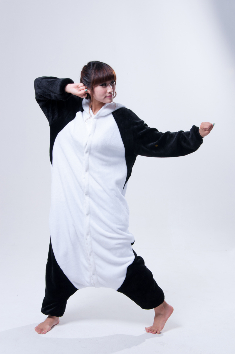 Online Shop Funny Animal Costume Pajamas Onesies Kongfu Panda For ...