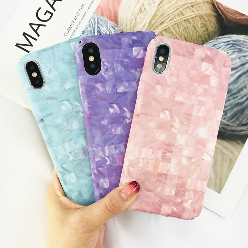Case For Iphone 6 Simple Refreshing Lattice Marble Phone Cases For Iphone 6 6s Plus Ultra Thin Drop Hard Frosted Back Cover Capa