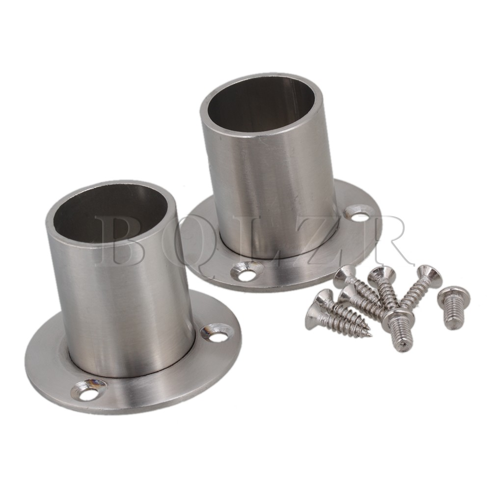 Exceptionnel BQLZR 2pcs Silver Stainless Steel Closet Rod Flange Socket Holder For 25mm  Pipe In Flanges From Home Improvement On Aliexpress.com | Alibaba Group