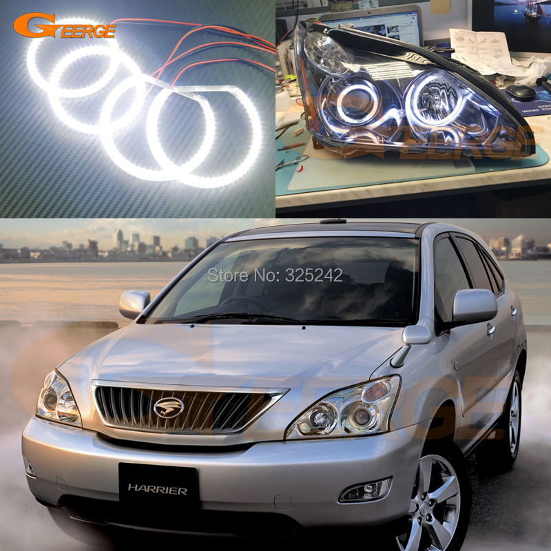 For Toyota Harrier 2003-2012 xenon Headlight Excellent Angel Eyes Ultra bright smd led Angel Eyes kit неоновые кольца angel eyes duntuo smd 60 2