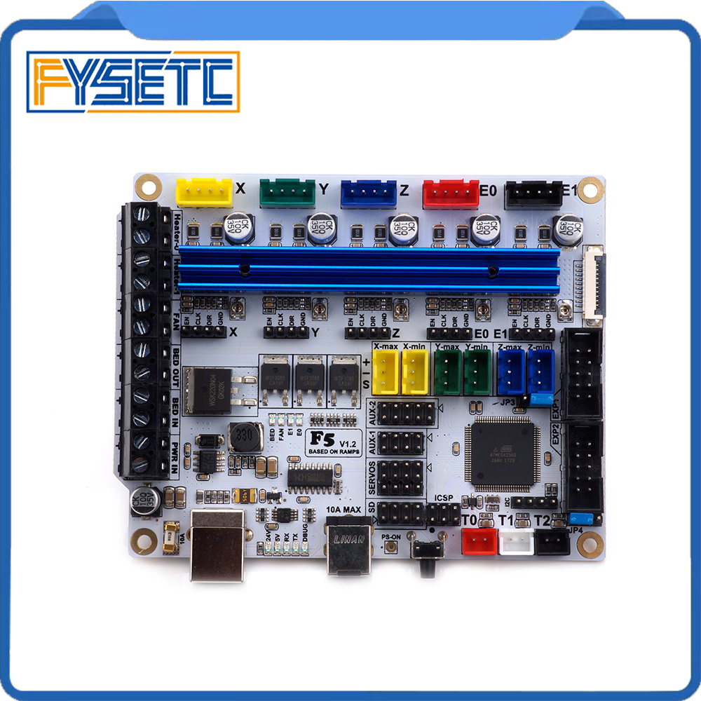 3D Printer Board F5 V1.2 Control Board Based on ATMEGA 2560 Replace MKS BASE 1.4 & Ramps 1.4 ControllerBoard with USB f5 v1 2 control board based on atmega 2560 replace mks base 1 4