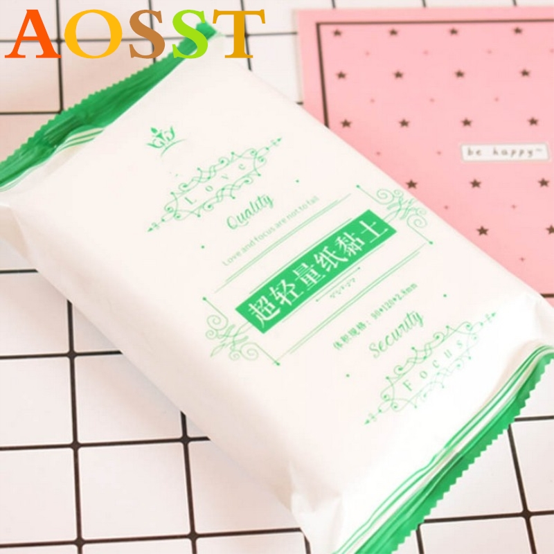 2019 New Packaging Mud Super Light Weight Clay 100 Grams White Hardcover Paper Clay Soft Polymer Putty Plasticene Toys