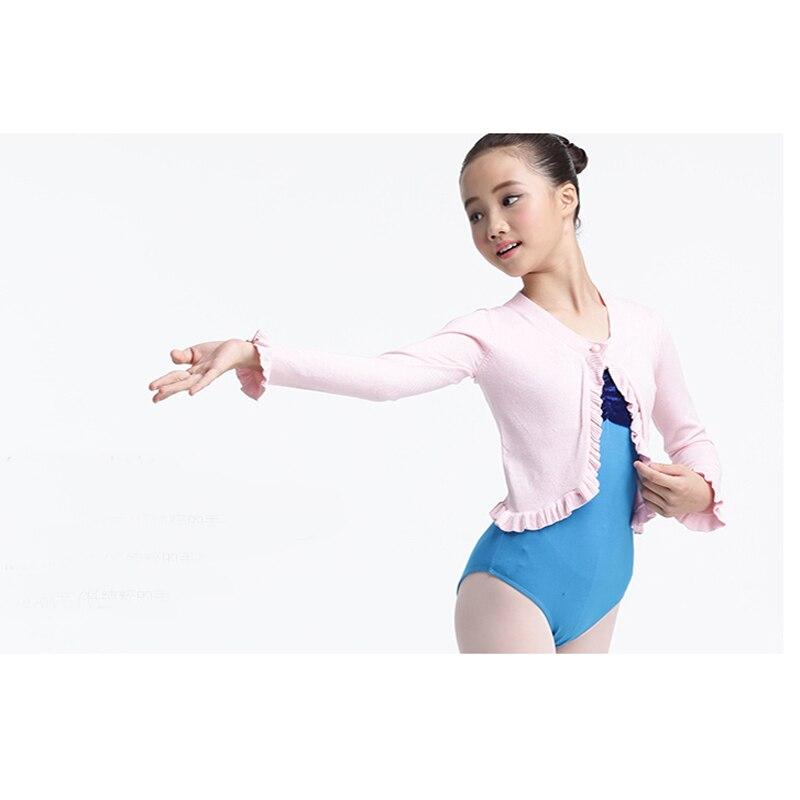 Longue couche de finition de chandail de Ballet d'enfants pour la danse de Ballet, Cape de Ballet d'enfants pour le justaucorps de Ballet avec le bouton