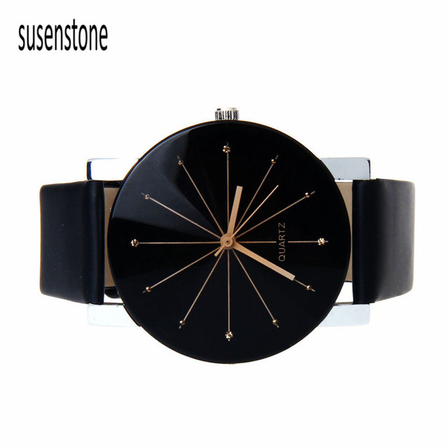 Black&White Relojes Hombre Men Quartz Watch Saat Dial Glass Time Men Clock Leather Business Wristwatch Round Case Hour Watches