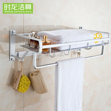 Space aluminum bathroom towel rack shelf towel rack towel rack towel rack thickening