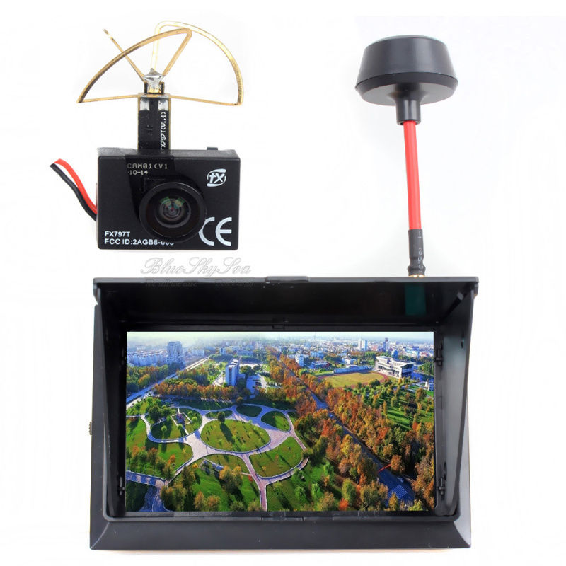 Hobbymate FPV Quadcopter AV Display Monitor with Wireless AV Receiver, 4.3 LCD 5.8G 32Ch 500cd/m2 wireless pager system 433 92mhz wireless restaurant table buzzer with monitor and watch receiver 3 display 42 call button