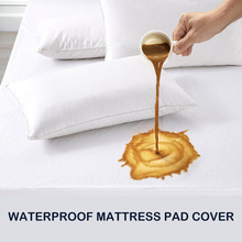 King Size Hypoallergenic Cotton Terry Waterproof Mattress Cover Dust Mite Proof Bed Bugs Proof Fitted Sheet Mattress Protector