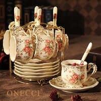 Ensemble de tasses à café en porcelaine européenne créative ensemble de thé de mariage chinois chine accessoires de décoration de la maison