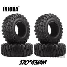 INJORA 4 قطعة 2.2 المطاط الطين Grappler الإطارات 120*43 مللي متر ل 1:10 العربة المتسلقة للصخور محوري SCX10 SCX10 II 90046 90047 تراكسس TRX 4 TRX4