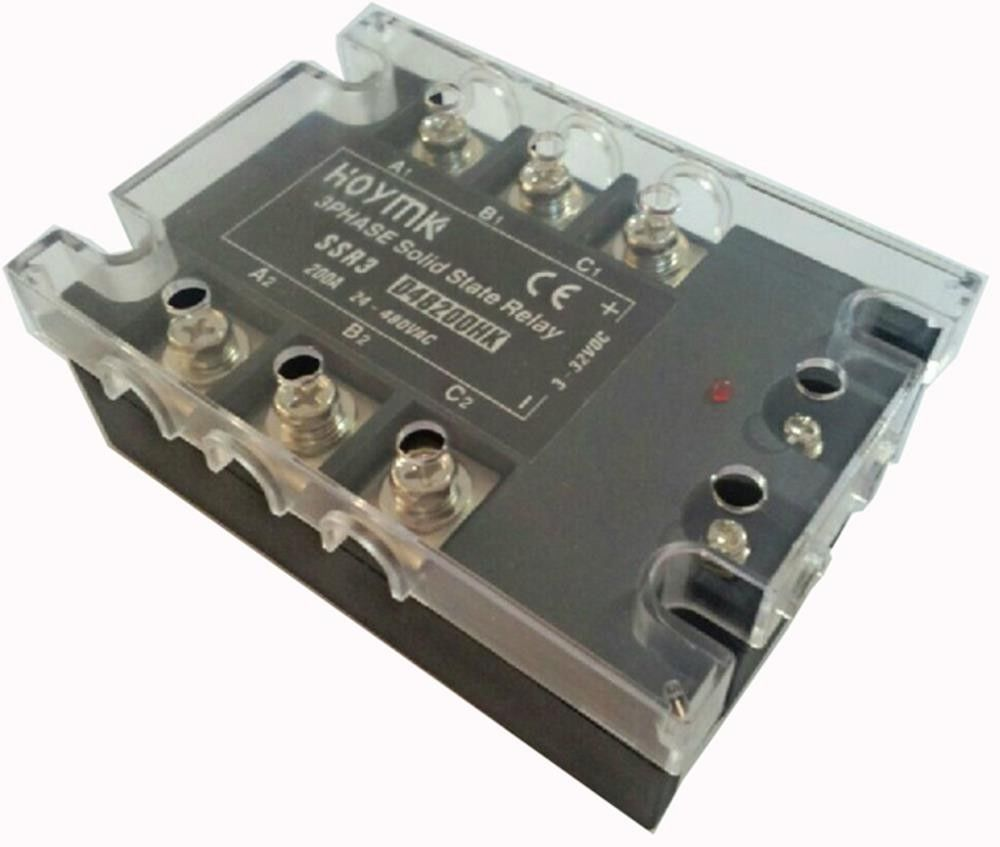Q00038 Hoymk SSR3-D48200HK 200A DC-AC SSR3 D48200HK 3 Phase Solid State Relay