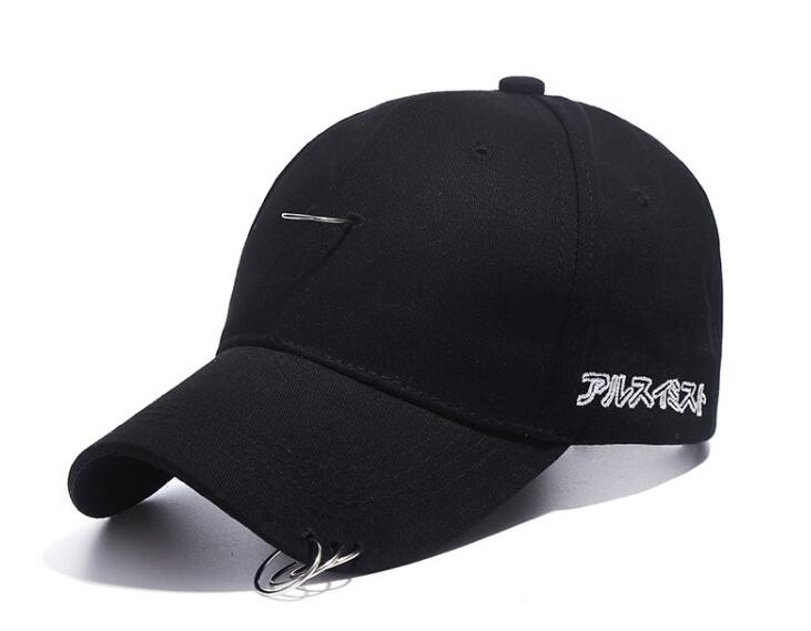 men cap black unisex ring hats baseball women caps hip hop nylon plain fitted target