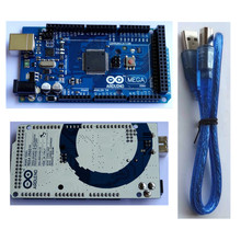 Mega 2560 R3 Mega2560 REV3 ATmega2560-16AU Board + USB Cable compatible for arduino good quality low price