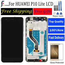 For Huawei P10 Lite LCD Display with Frame Digitizer Replacement Assembly  HUAWEI WAS-LX1 WAS-LX1A WAS-LX3