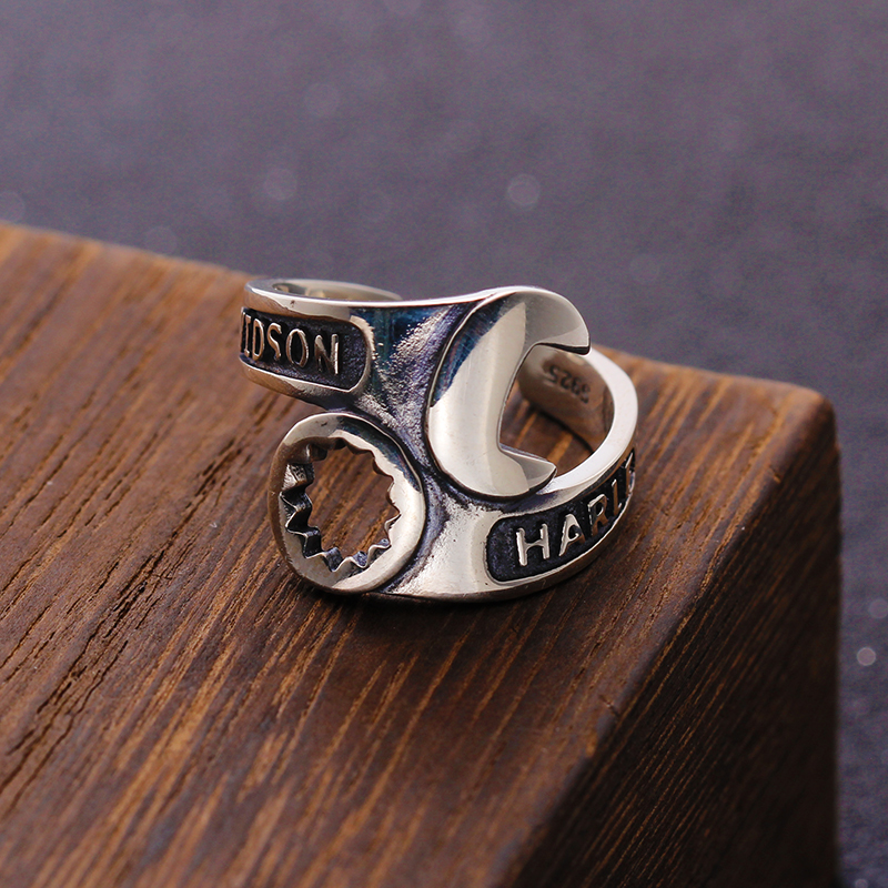 100% Pure <font><b>925</b></font> <font><b>Sterling</b></font> <font><b>Silver</b></font> Jewelry <font><b>Rings</b></font> Tool Adjust Vintage <font><b>Mens</b></font> Signet <font><b>Ring</b></font> <font><b>For</b></font> Women Special Christmas Gift 935 image
