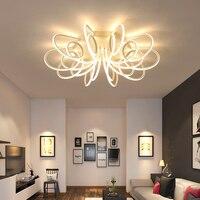 Новые светодио дный Современные светодиодные люстры для гостиной спальни столовая светильник Люстра потолочная лампа затемнения домашнег