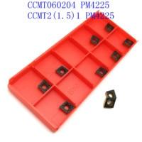כלי קרביד מחרטה CCMT060204 PM 4225 Internal מפנה באיכות גבוהה כלי קרביד הכנס CNC מחרטה כלי הפיכת Blade (3)