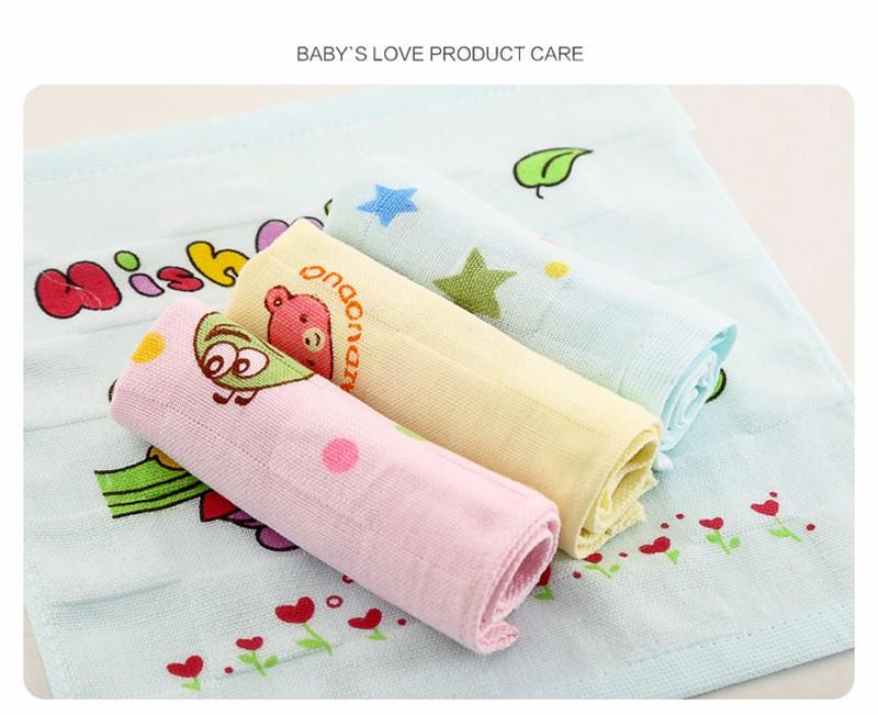Square Cotton Cartoon Baby Bath Towel (7)