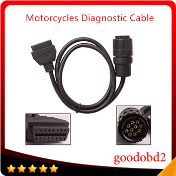For BMW ICOM D Cable Motorcycles Cable Motobikes Diagnostic Cable 10Pin Adaptor work with BMW ICOM or BMW ICOM A2 A3 2018 for bmw car and motorcycle diagnostic tool for bmw icom a2 b c d without software 4in1 best quality
