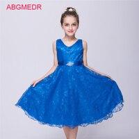 Big Girls Princess Lace Dresses Teenagers Bridesmaid Wedding Dress Prom Gowns Girls Birthday Party Elegant Costumes