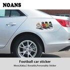NOANS Cartoon Football Player Pattern Sticker Car Accessories For Mitsubishi lancer Peugeot 206 307 308 207 2008 BMW F30 F10 E30
