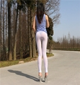 Women Lady Transparent Sexy Slim Tights Stretchy Elastic Leggings Pants See Through