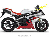Hot Sales,For Yamaha YZF R1 2007 2008 Body Kit YZF R1 07/08 YZF1000 Red White Aftermarket Motorbike Fairing (Injection molding)