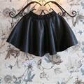 Симпатичные 2-10 Т зима сгущать девочек юбки девушки детей PU кожаные юбки юбки для детей малыша девушка одежда 2017