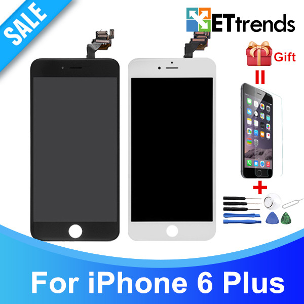 5PCS/LOT High Quality No Dead Pixel LCD display for iPhone 6 plus LCD Screen Touch Digitizer Assembly DHL Free Shipping high quality 2016 universal wireless bluetooth headset handsfree earphone for iphone samsung jun22