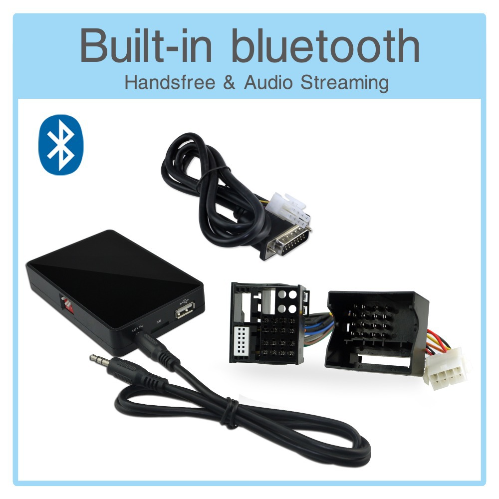 USB AUX SD Card Adapter Bluetooth Interface MP3 Player