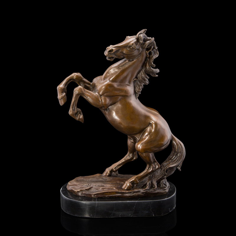 High Quality Br Sculptures Galloping Horse Statue Bronze Horses Figurine Home Office Decoration In Statues From Garden On