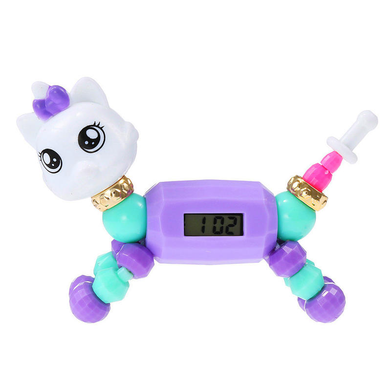 Cartoon Children Watch Fashion Cute Kid Bracelet Electronic Clock Puzzle Small Animal Toy Children's Wrist Watches Boy Girl 2019