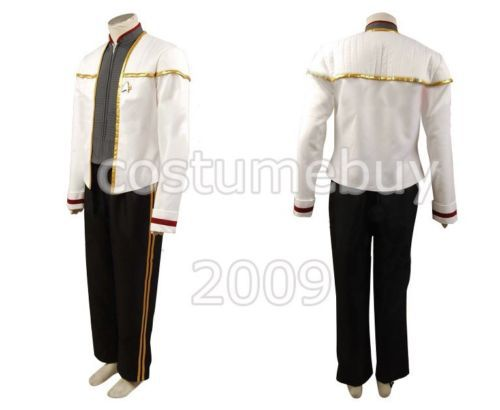 Star Trek Insurrection Nemesis White Gold Mess Uniform Halloween Cosplay Costume Custom Made