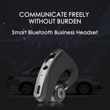Moonstar Handsfree Business V9 Bluetooth Headphone Noise Control Business Wireless Bluetooth Headset with Mic for Driver Sport daono v9 handsfree business bluetooth headphone with mic voice control wireless bluetooth headset for drive noise cancelling
