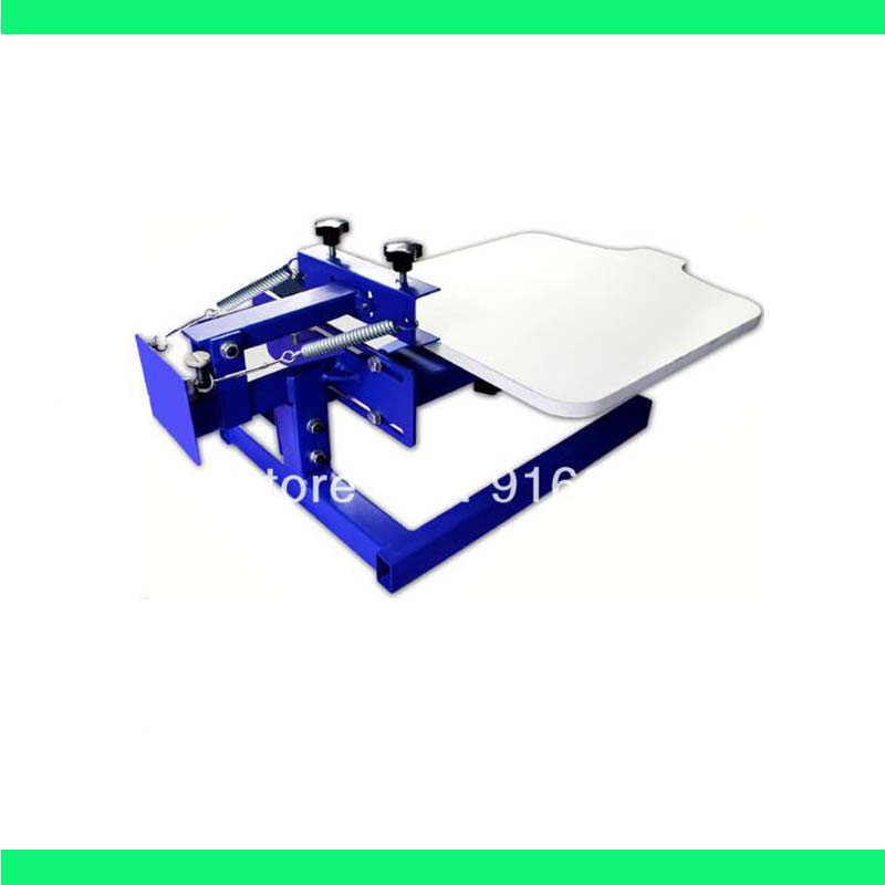 FAST and FREE shipping! New 1 Color Simple Screen Printing Press with Removable Pallet t shirt printer equipment carousel