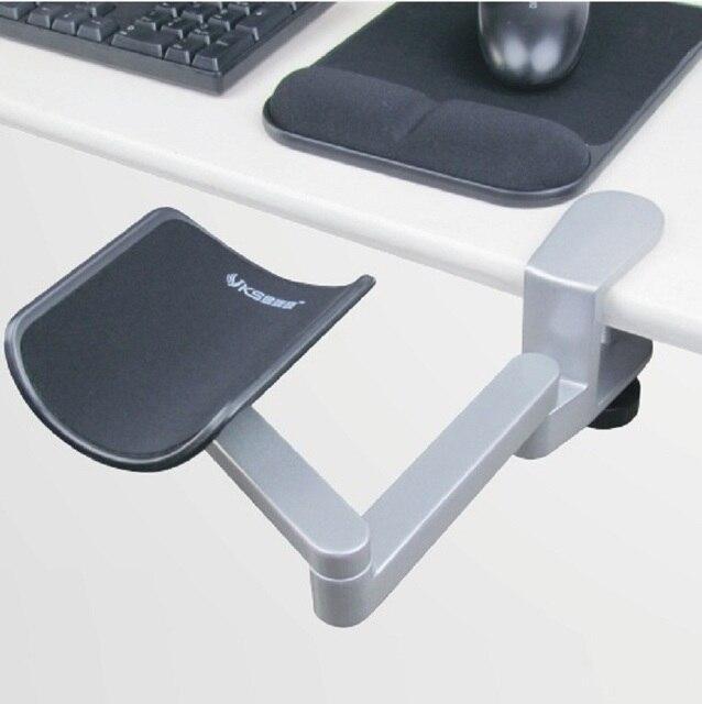 Высокое качество таблицы выделенные эргономичный алюминиевого сплава коврики для мыши компьютер и мышь стороны кронштейн руки перетащить наручные поддержки, 01BCD