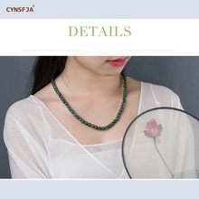цена на Certified Natural A Grade Burmese Jadeite Myanmar Emerald Jade Beads Necklace Green High Quality Wonderful Gifts