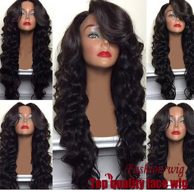 New arrival synthetic lace front wig with babyhair cheap synthetic wigs long wavy hair wig for black women fast shipping instock