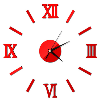 Modern DIY Interior Roman Wall Clock Wall Clock 3D Sticker Home Mirror Effect pegatinas paredes decoracion
