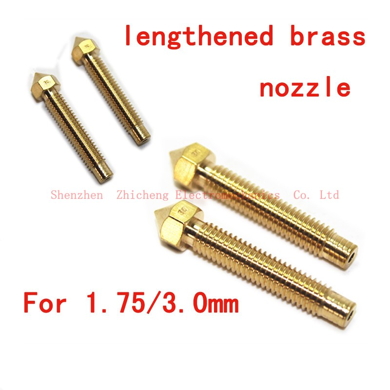Extend 3D Brass Copper long nozzle Tungsten nozzle M6 * 32 mm extruder printhead best quality m4 male m 25 30 35 40 45 50 55 60 mm x m4 6mm female brass standoff spacer copper hexagonal stud spacer hollow pillars